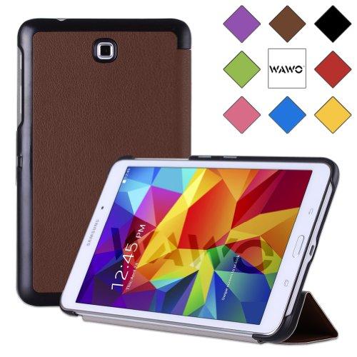 Wawo Samsung Galaxy Tab 4 8.0 Inch Tablet Smart Cover Creative Fold Case - Brown