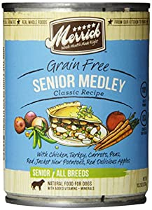 Merrick Senior Medley Dog Food 13.2 oz ,12 count