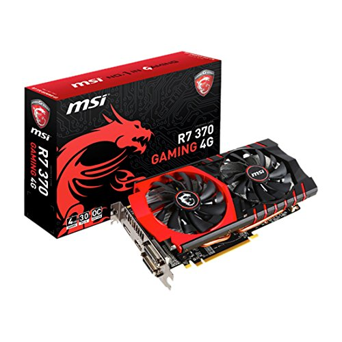 MSI R7 370 Scheda Video, 4GB Gaming, Nero