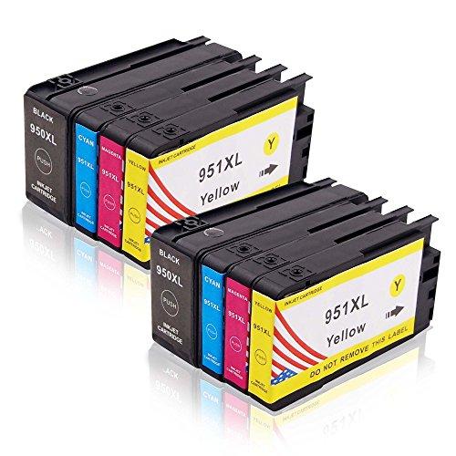 Toner Kingdom 8er Pack(2 set) Tintenpatronen kompatibel für HP 950XL 951XL, für HP Officejet Pro 8600 8100 8610 8620 8630 8640 8860 276dw 251dw