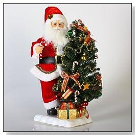Santa Claus Classics Animated Musical St. Nick & Christmas Tree Tabletop Figure
