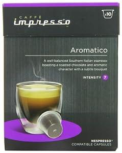 Caffe Impresso Aromatico Nespresso Compatible Capsules (Pack of 4, Total 40 Capsules)