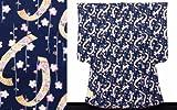 七五三着物 7歳 ちりめん生地のレトロ柄子供着物(合繊)【紺、桜と花短冊】 ORG277