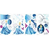 Roommates Rmk1956Scs Disney Princess Cinderella Glamour Peel And Stick Wall Decals