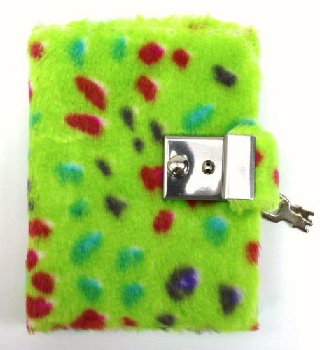 Green Plush Diary with a Lock!