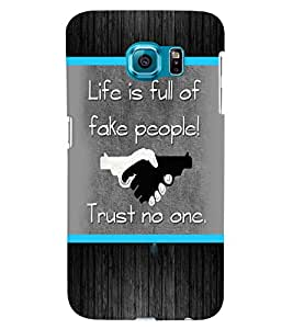 Fuson 3D Printed Quotes Designer back case cover for Samsung Galaxy S6 - D4226