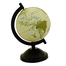 Mini Desktop Rotating Globe World Earth Geography Globes Ocean Table Decor 8.5\
