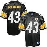 Troy Polamalu Jersey: Reebok Black Replica #43 Pittsburgh Steelers Jersey