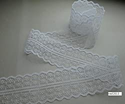 10 yards / 4 cm wide white bilateral lace ribbon lace embroidery lace DIY craft