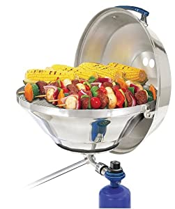 Magma Marine Kettle Gas Grill w  Hinged Lid, Party Size by Magma Products