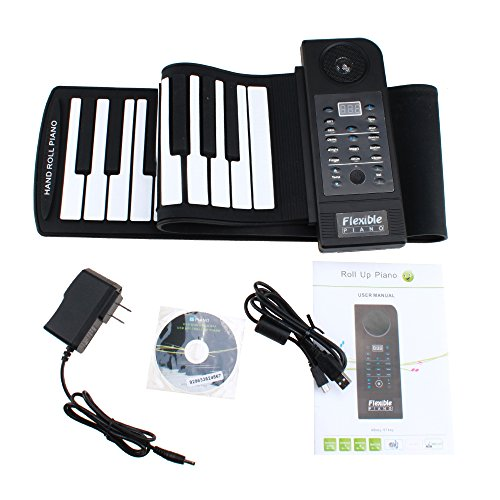 Generic Portable 61 Keys Flexible Roll Up Electronic Piano S