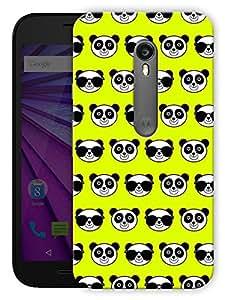 "Humor Gang Cute Pandas Green Printed Designer Mobile Back Cover For ""Motorola Moto X Style"" (3D, Matte, Premium Quality Snap On Case)"
