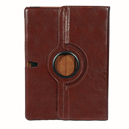 HOKO vintage 360 Degree Rotating Leather case cover for Samsung Galaxy Tab S 10.5 LTE SM-T805 brown
