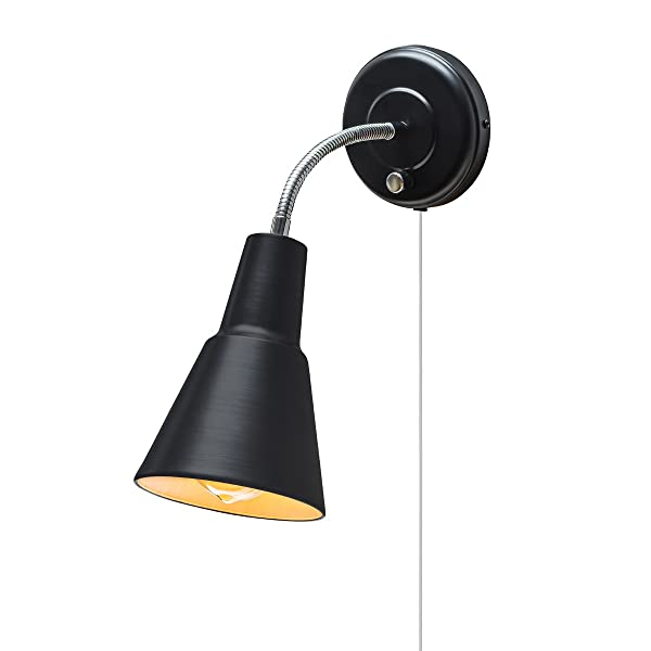 Globe electric ramezay 1 light plug in or hardwire task wall sconce globe electric ramezay 1 light plug in or hardwire task wall sconce chrome gooseneck aloadofball