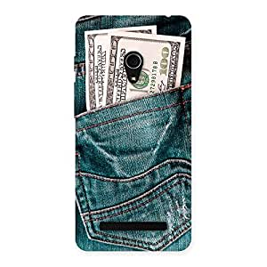 Delighted Dollars Jeans Back Case Cover for Zenfone 5
