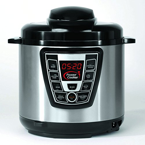 Power Cooker Pro - Digital Electric Pressure Cooker and Canner (6 Quart) As Seen on TV (Power Pressure Cooker Elite compare prices)