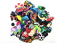 100 Pcs PVC Shoe Charms Fit Crocs & B…