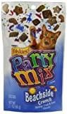 Friskies Party Mix Beachside Crunch Cat Treats With Shrimp, Crab and Tuna Flavors, 2.1ounce - Pouch (Pack of 10)