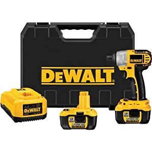 51dqyRz1B5L. SL500 AA300  DeWALT DC827KL 18 Volt 1/4 inch Lithium Ion Impact Driver Kit   $279