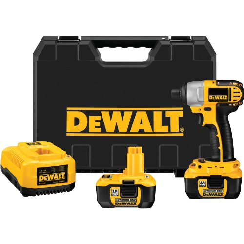 DEWALT DC827KL 18-Volt 1/4-inch Lithium Ion Impact Driver Kit with NANO Technology