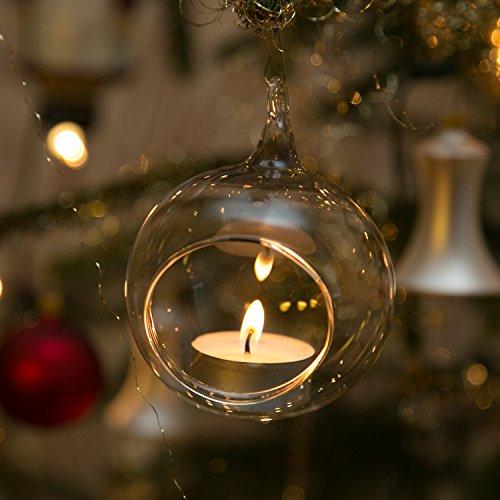 beleuchtung f r christb ume windlichter aus glas 3 st ck 8cm mundgeblasen han. Black Bedroom Furniture Sets. Home Design Ideas