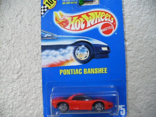Hot Wheels Pontiac Banshee #75 All Blue Card Red Roof Bar and Ultra Hots