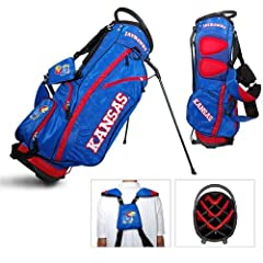 Kansas Jayhawks NCAA Stand Bag - 14 way by Team Golf