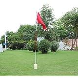 77tech Backyard Practice Golf Hole Pole Cup Flag Stick, 3 Section,golf Putting Green Flagstick