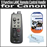 8 Function LANC Remote Control Handle for Canon HF R52, HF R50, HF R500, ZR-1000 ZR-2000 XH A1 XH G1 XL H1 XL1 XL1s GL2 GL1 GL3 XL2 XL3 Canon VIXIA HF G10, HF M32, HF M40, HF M41, HF R20, HF R21, HF S21, HF S30, HV40, HF M400, HF R200 HD Camcorder +