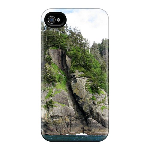 Ultra Slim Fit Hard Anne Marie Harrison Case Cover Specially Made For Iphone 4/4S- Skidegate Narrows Haida Gwaii British Columbia front-1076262