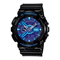 Men Casio GA110HC-1A G-Shock Black G-Shock Analog Digital Anti-Magnetic Blue Pur