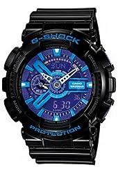 Men Casio GA110HC-1A G-Shock Black G-Shock Analog Digital Anti-Magnetic Blue Pur