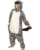 Samgu-Zebre animal Pyjama Cospaly Party Fleece Costume Deguisement Adulte Unisexe