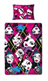 Character World Monster High Skullette Single Rotary Duvet Set, Multi-Color