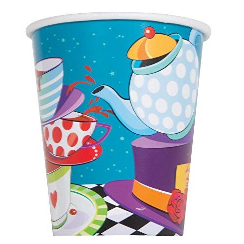 9 oz Mad Hatters Tea Party-Bicchieri di carta, confezione da 8