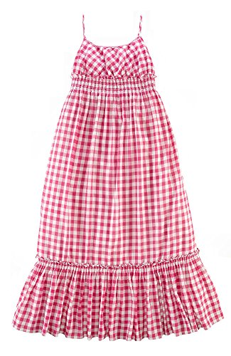 Ralph Lauren Girls Gingham Maxidress Maxi Summer Dress
