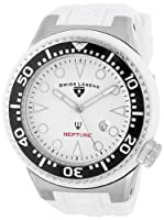 Swiss Legend Men's 21818D-02 Neptune Collection Stainless Steel White Rubber Watch from Swiss Legend