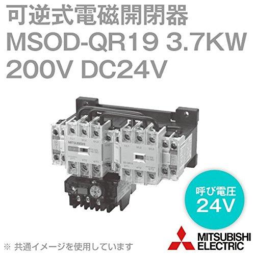 三菱電機 MSOD-QR19 3.7KW 200V DC24V SD-Qシリーズ高感度コンタクタ 電磁開閉器 可逆式 TH-N18DM使用 (ヒータ呼び: 15A) NN