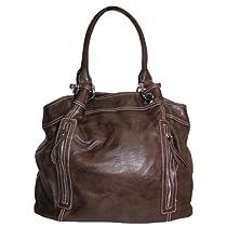 Hot Sale Large Zipper Tote Handbag (Dark Brown)