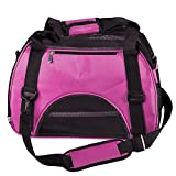 Ayliss® Faltbar Transporttasche Hundetasche Haustier Hunden & Katzen Reise Tragetasche Transportbox S M L (Groß(L), Pink)