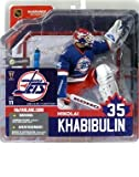 McFarlane Toys NHL Sports Picks Series 11 Action Figure: Nikolai Khabibulin (Winnipeg Jets) Blue Jersey at Amazon.com