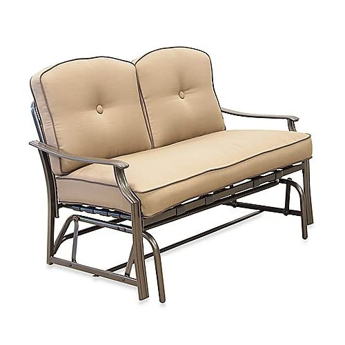 Padded Indoor Outdoor Loveseat Glider Bench Outdoor Furniture