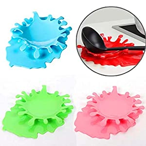 2 in 1 Spoon Utensil Holder Silicone Spoon Rest