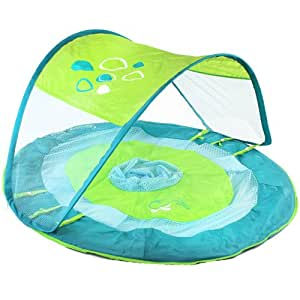Swim Ways Swimways Baby Spring Float Canopy Whale Solid