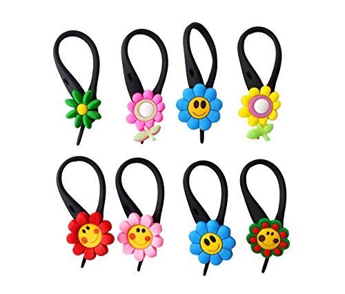 AVIRGO 8 pcs Soft Zipper Pull Charms for Backpack Bag Pendant Jacket Set # 49-3