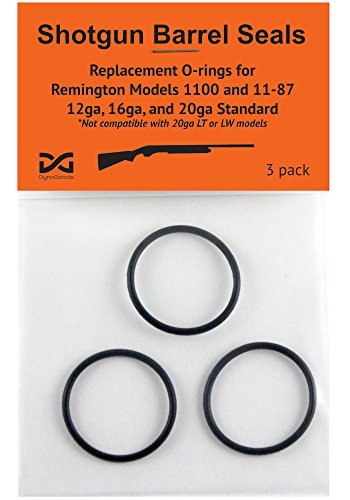 Shotgun Barrel Seals for Remington 1100 or 11-87 12ga, O-ring 3 pack