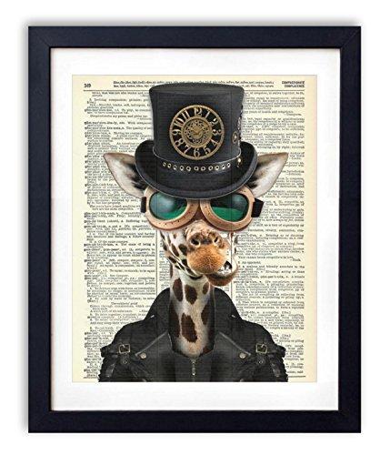 Dictionary Art Print - Steampunk Giraffe