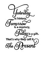 ZZ-Ambiance-sticker Vinilo Decorativo English Quote Today Is A Gift…