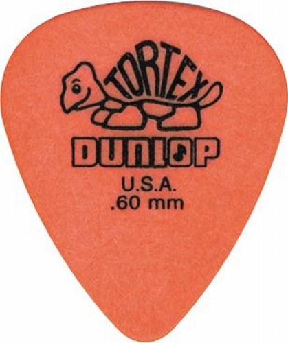 Dunlop Standard Tortex Picks, 12 Pack, Orange, .60mm