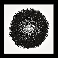 ArtzFolio Grunge Strokes 9 - Mini Size 10.0 Inch X 10.0 Inch - FRAMED PREMIUM CANVAS Wall Artwork Digital PRINT...
